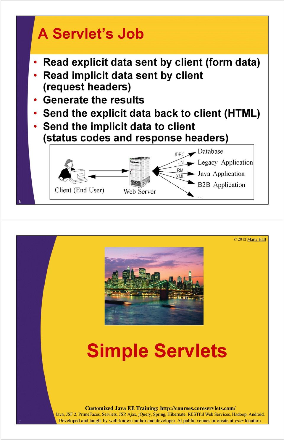 Send the explicit data back to client (HTML) Send the implicit data to