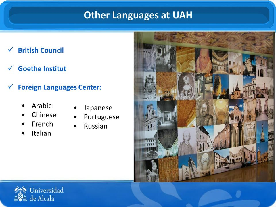 Languages Center: Arabic Chinese