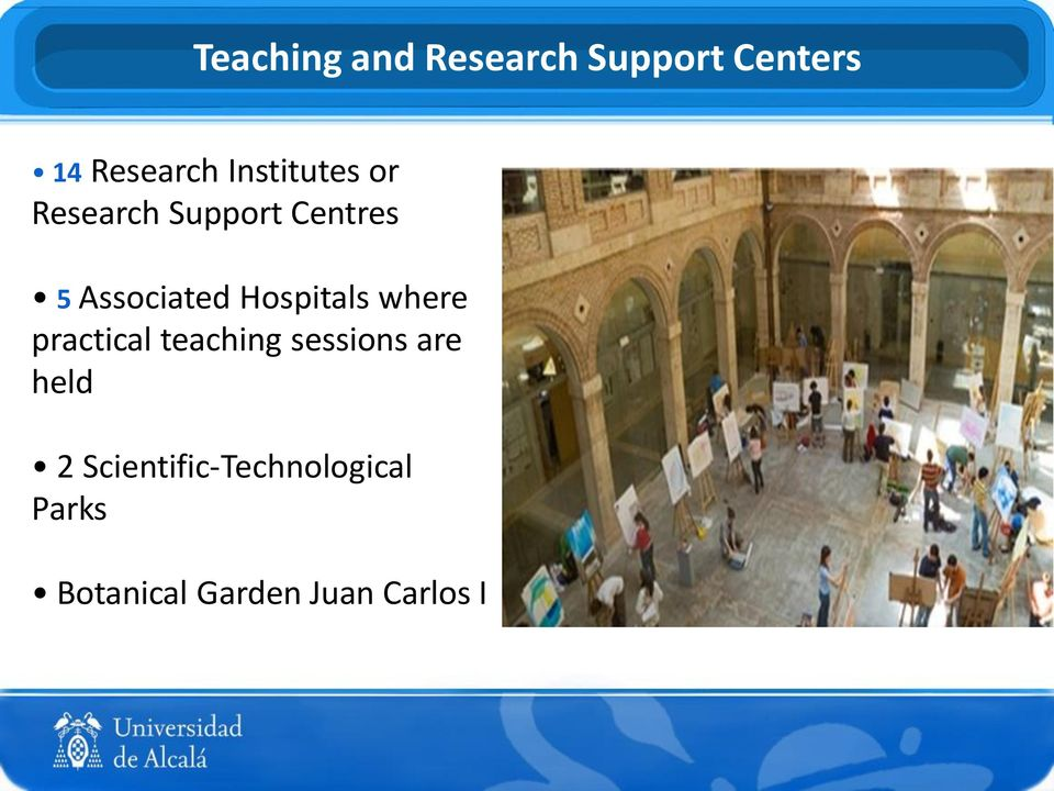 Hospitals where practical teaching sessions are held 2