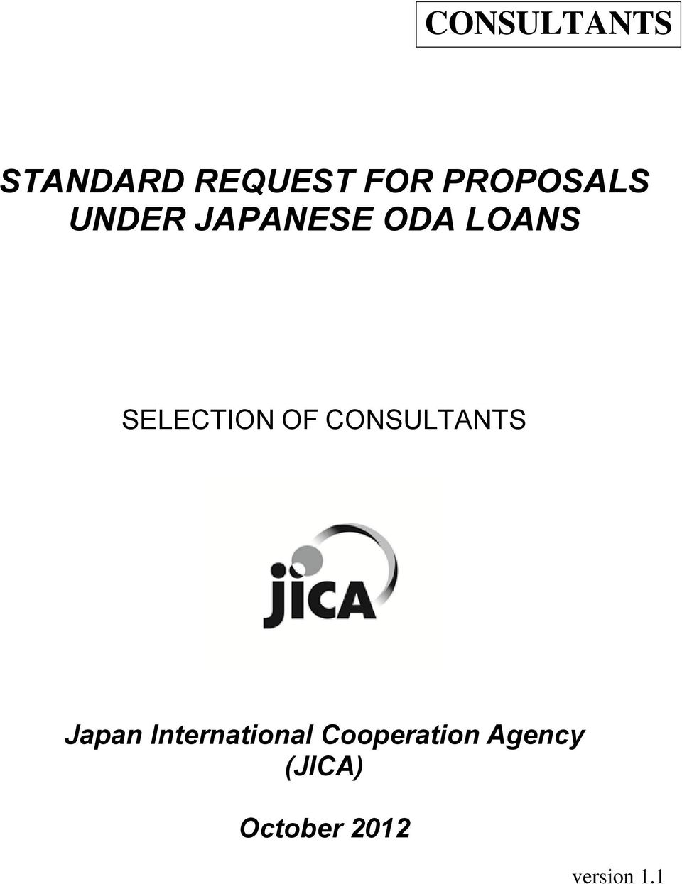 SELECTION OF CONSULTANTS Japan