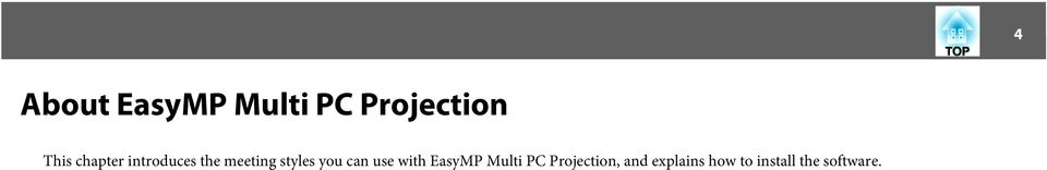 you can use with EasyMP Multi PC