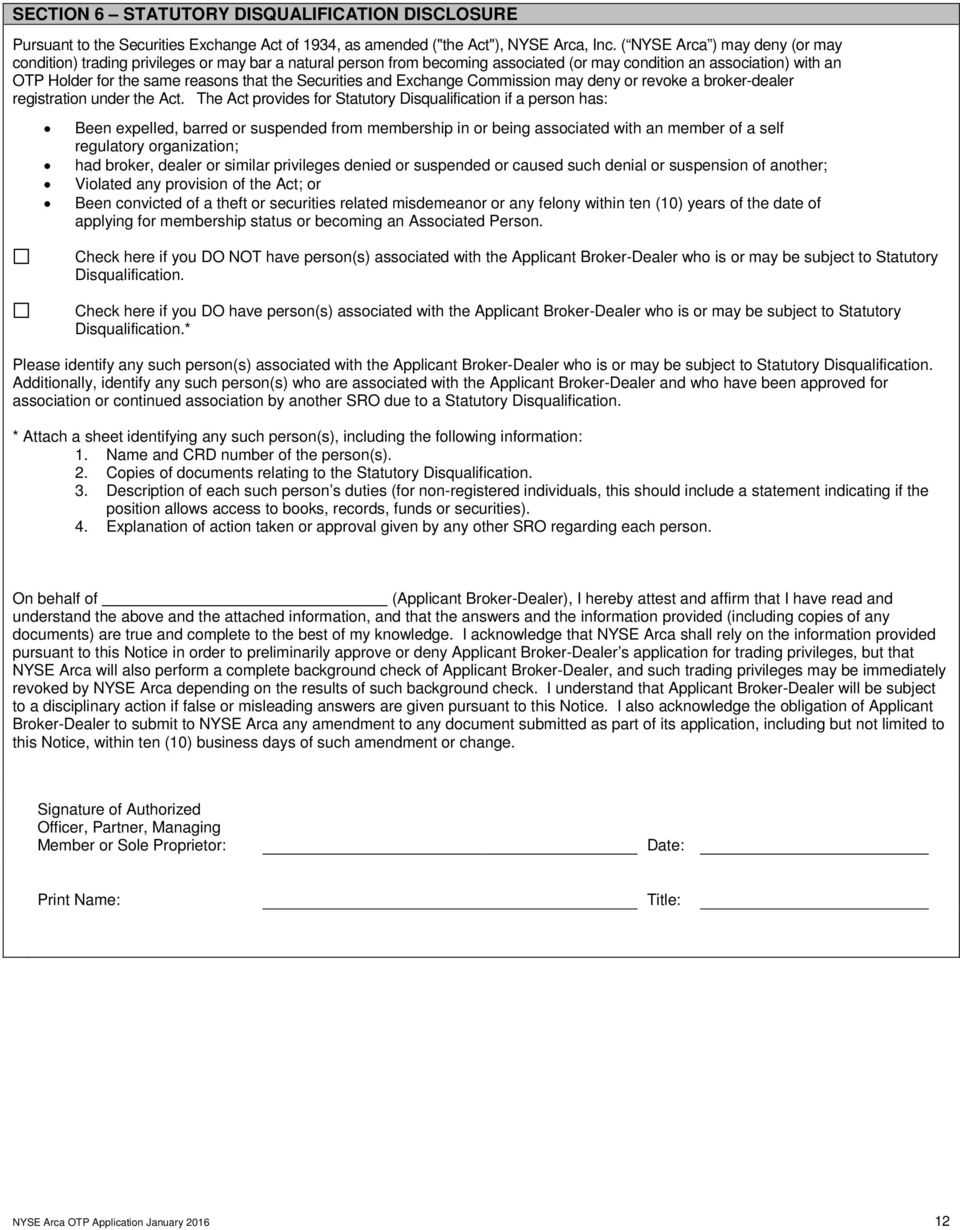 Options trading permit