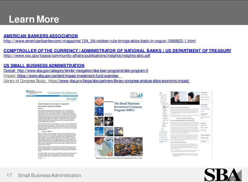 an overview of the mandate of the small business administration sba The national academies press  by the governing legislation and by small business administration (sba)  an overview of the technology readiness.
