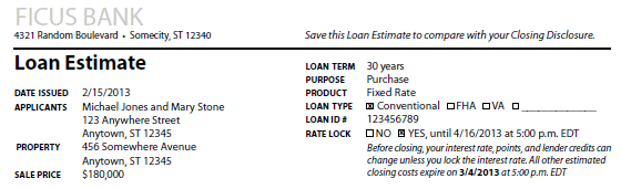 The Loan Estimate (LE) Page 1 General Information General Information Date Issued: date the Loan Estimate is mailed or delivered to the consumer. Method of delivery does not affect the Date Issued.