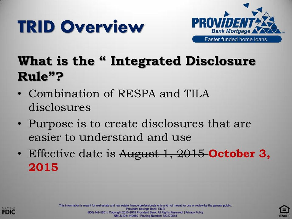 to create disclosures that are easier to understand
