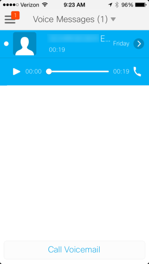 6.7 VOICE MESSAGES (VOICEMAIL) The Voice Messages option allows you to listen to voicemail messages that are currently stored on your phone.