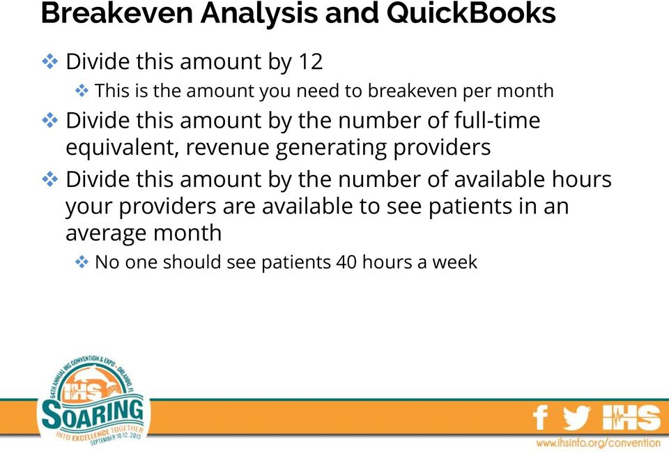 generating providers Divide this amount by the number of available hours your providers