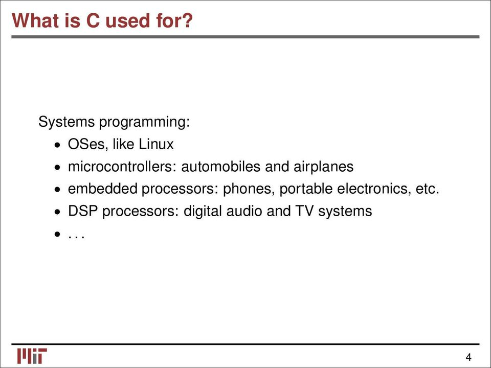 microcontrollers: automobiles and airplanes