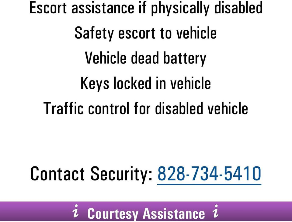 locked in vehicle Traffic control for disabled