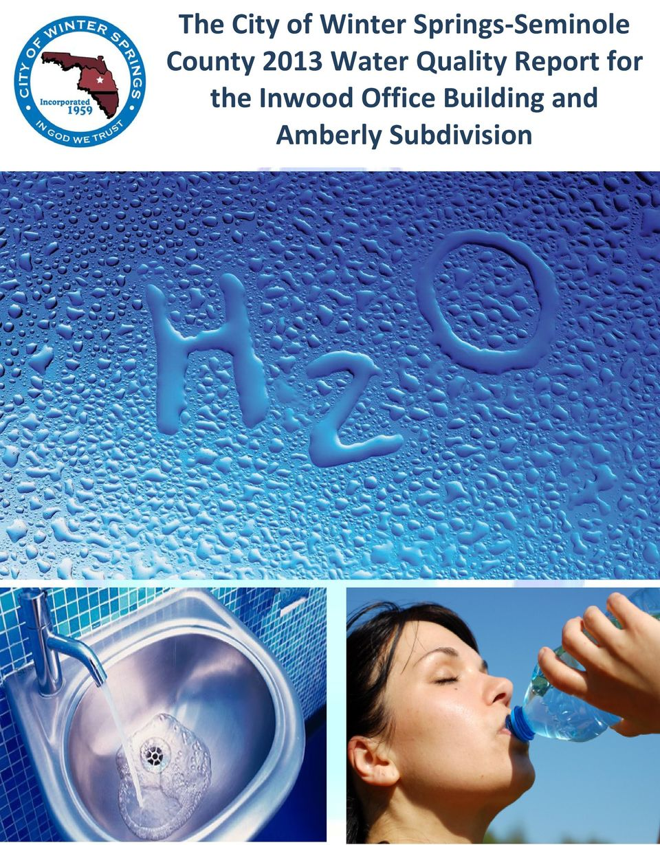 Water Quality Report for the