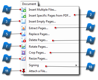 how to seperate several pdf pages into single pages