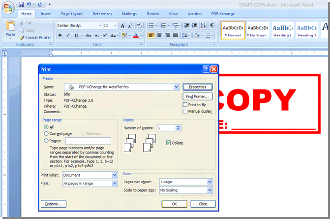 word 7 rotate pdf in page