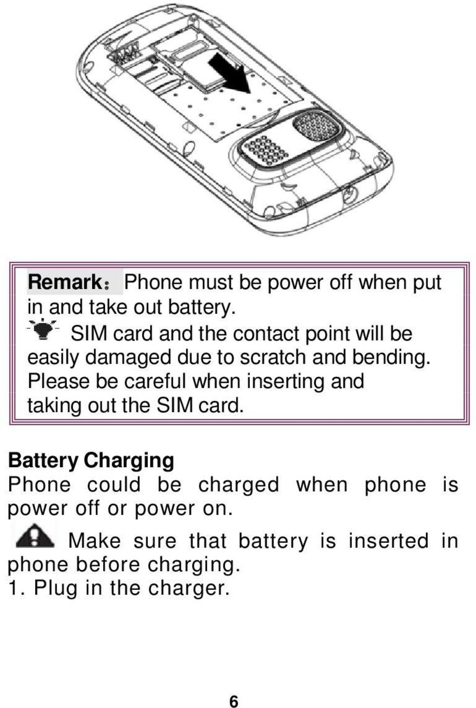 Please be careful when inserting and taking out the SIM card.