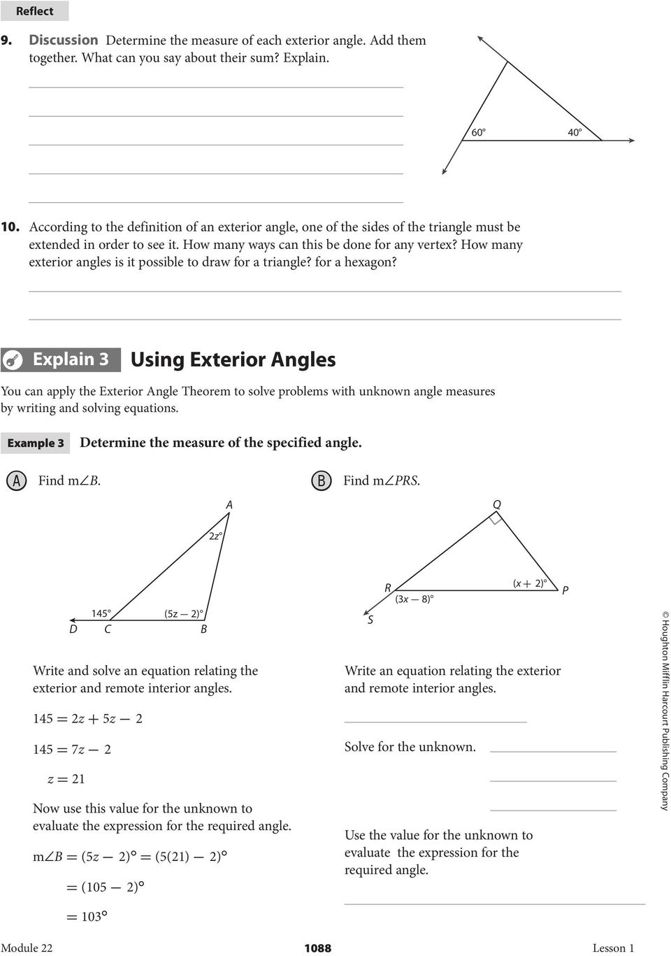 How many exterior angles is it possible to draw for a triangle? for a hexagon?