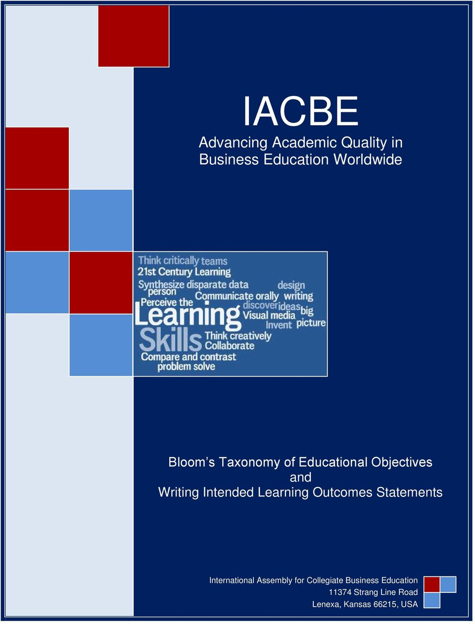 Learning Outcomes Statements International Assembly for
