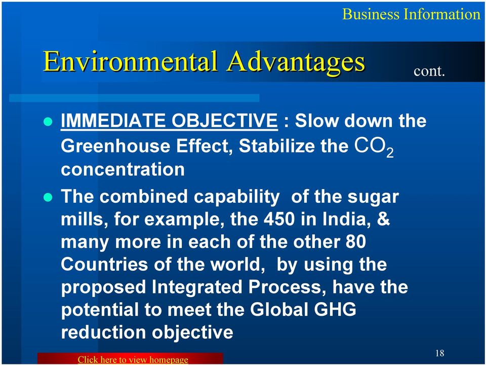 The combined capability of the sugar mills, for example, the 450 in India, & many more in