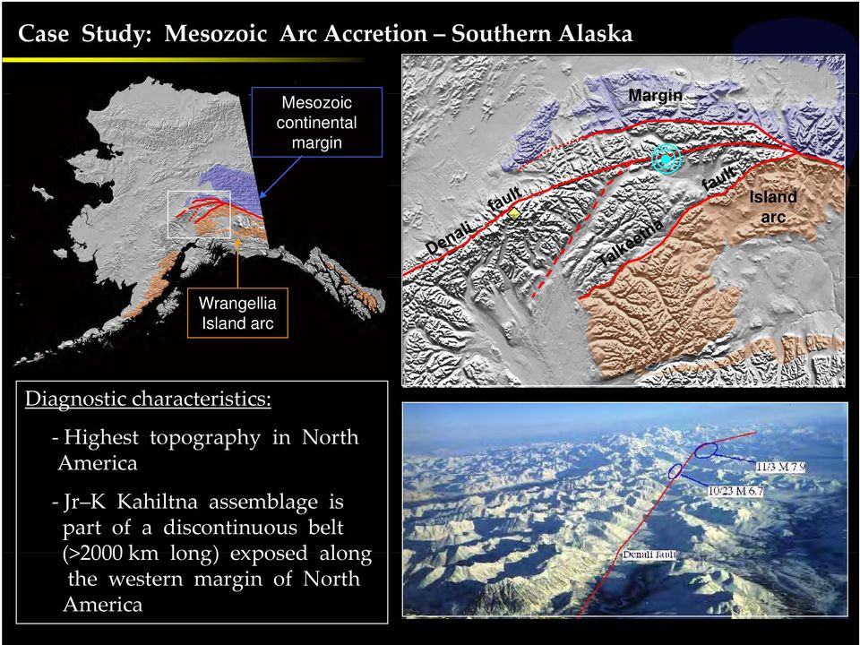 Highest topography in North..America Jr K Kahiltna assemblage is.