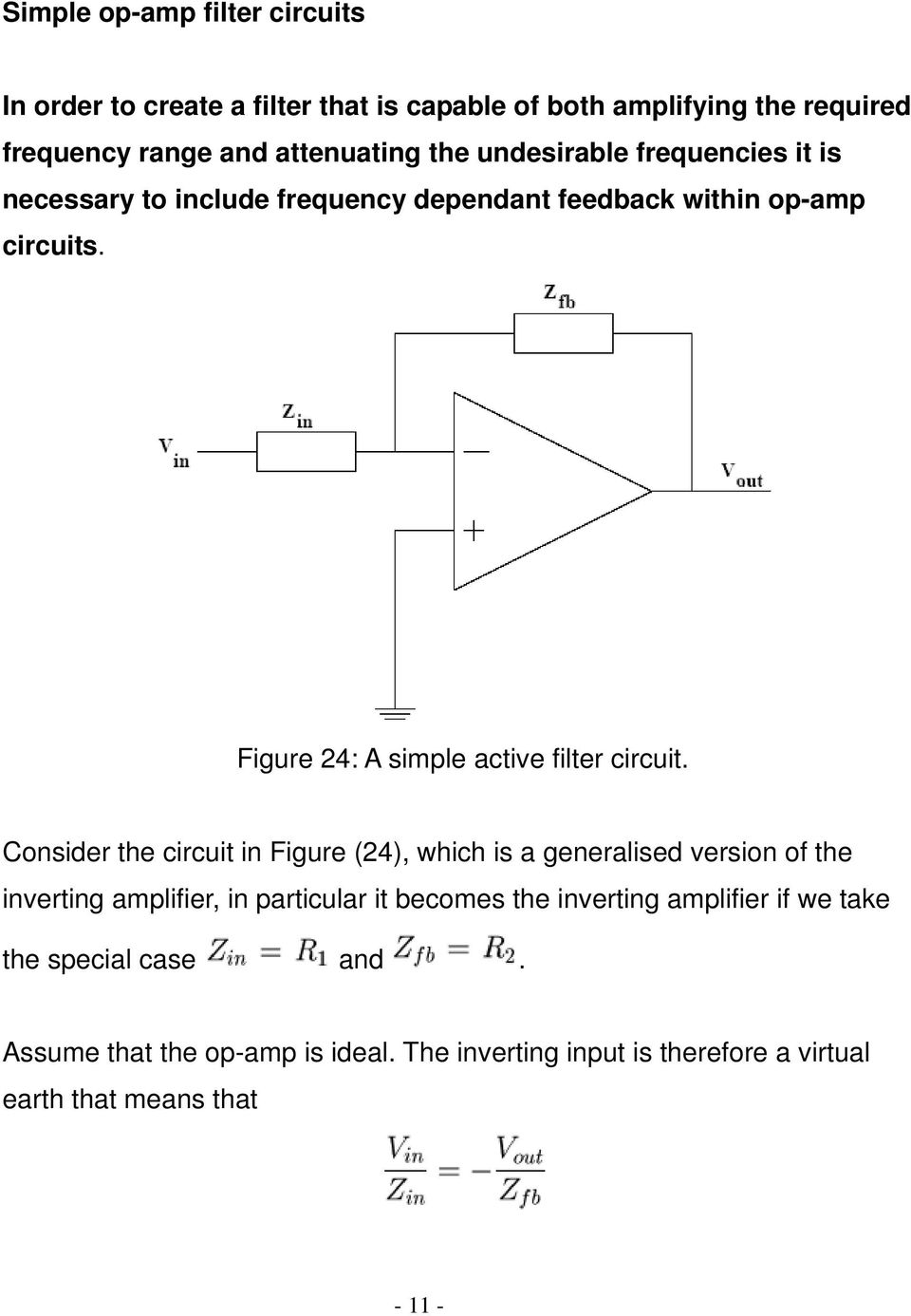Figure 24: A simple active filter circuit.