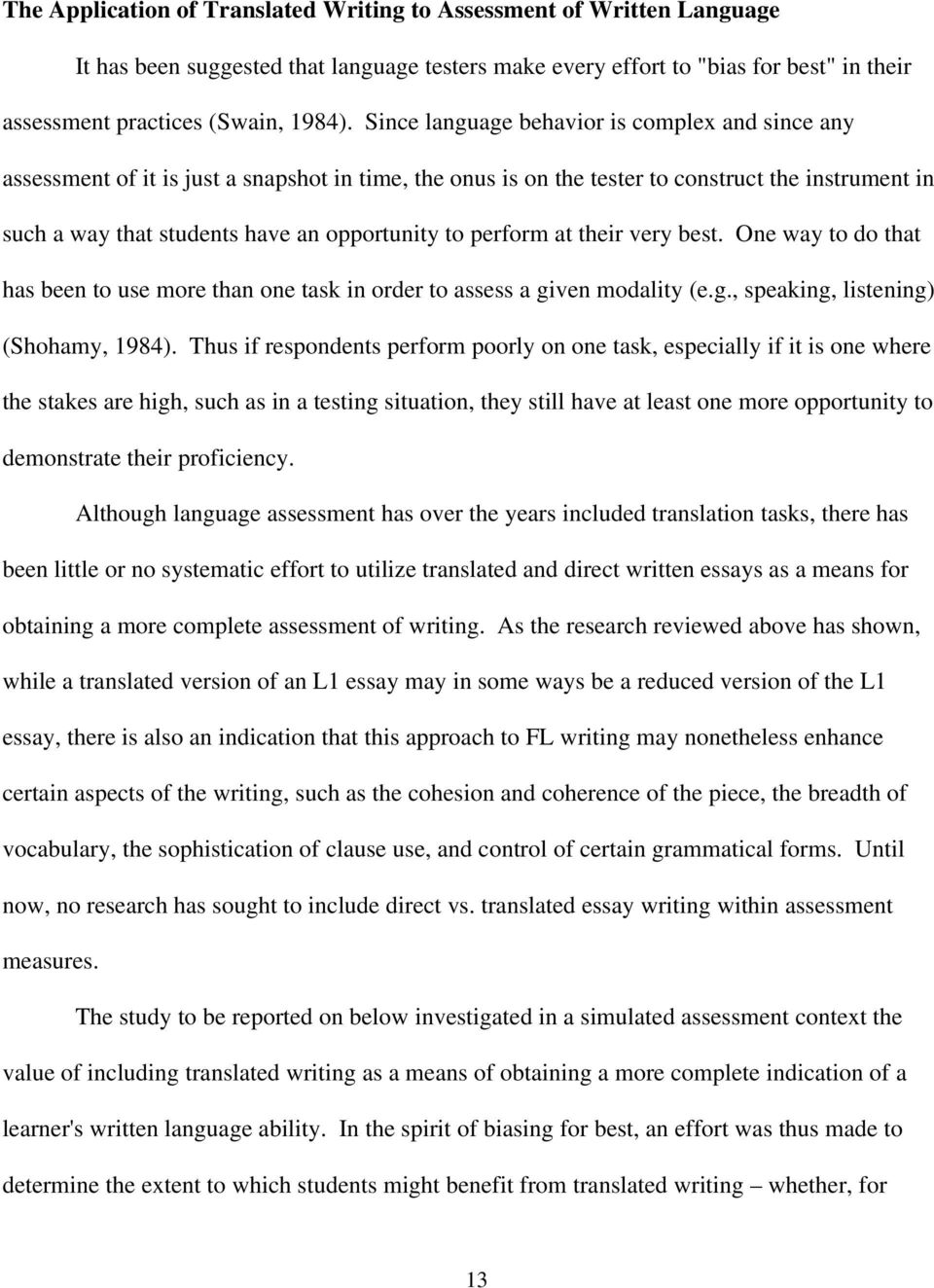 Benefit of learning english essay