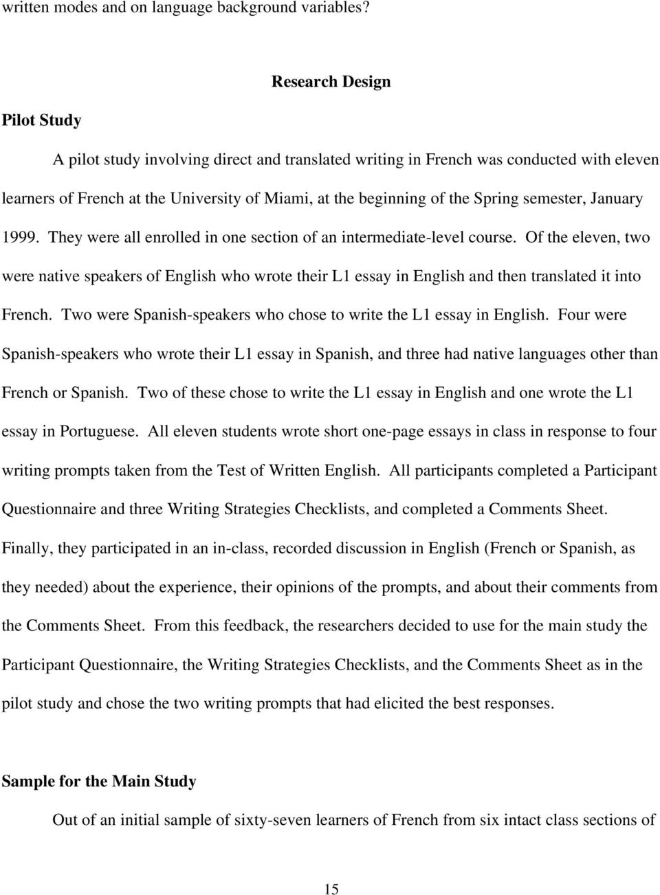 essay in spanish tragedy of the commons essay ap spanish essay  direct vs translated writing what students do and the strategies semester 1999 they were all enrolled