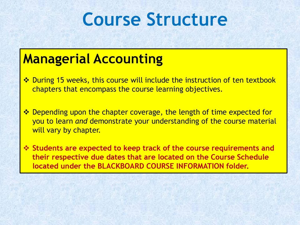 A course on managerial accounting