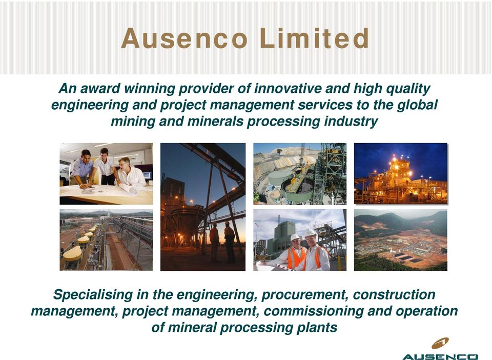 processing industry Specialising in the engineering, procurement, construction