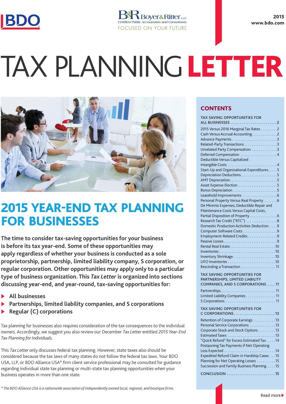 business year end tax planning 2013