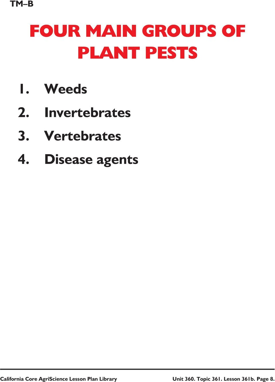 Disease agents California Core AgriScience