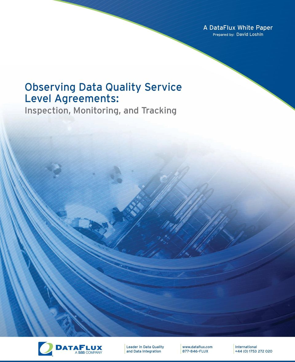 Monitoring, and Tracking Leader in Data Quality and Data