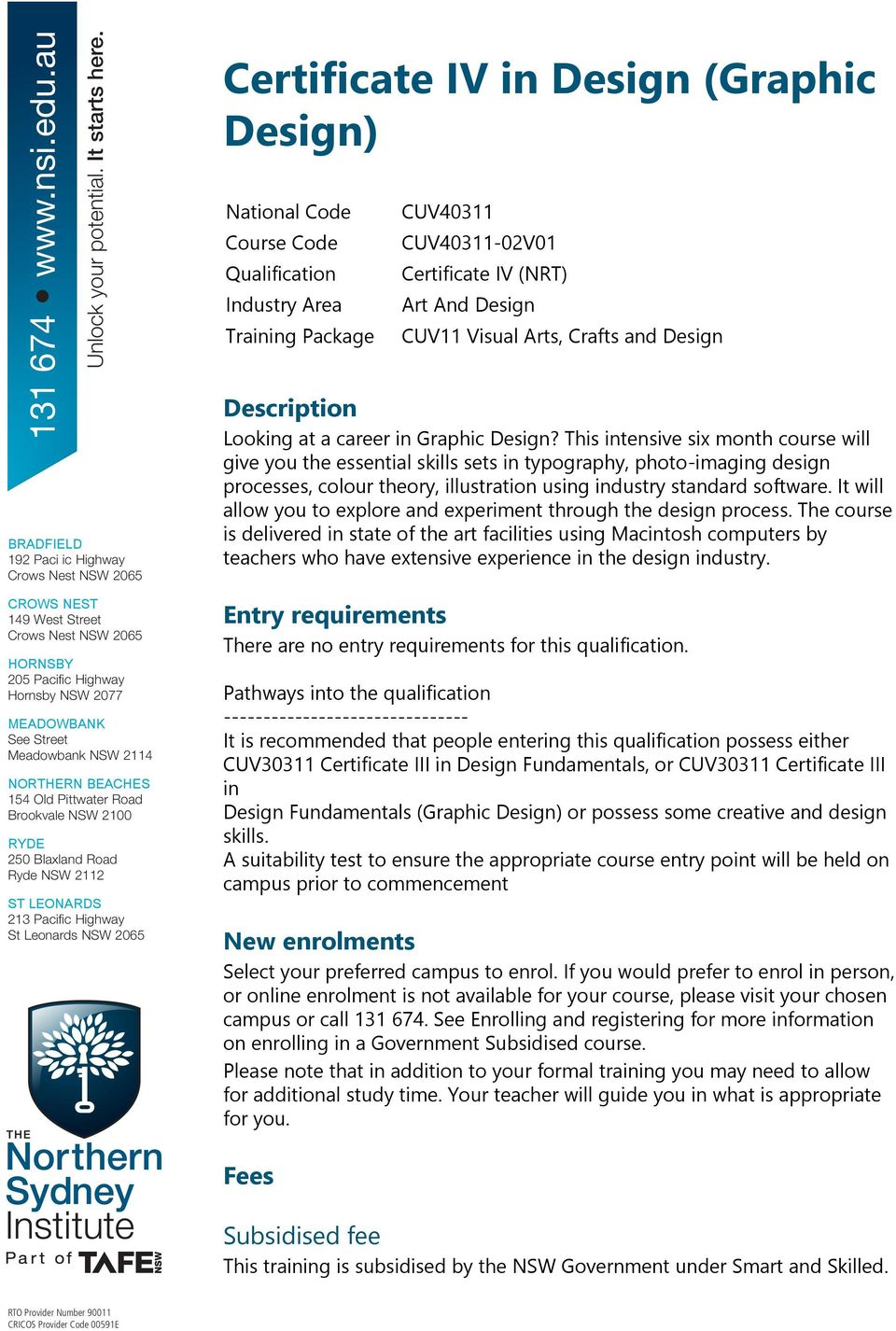 Certificate Iv In Design Graphic Design Pdf