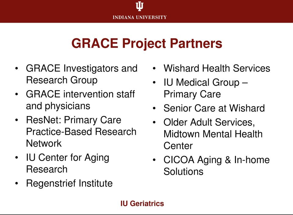 management of geriatric health facilities Trios geriatric services trios geriatrics provides primary and consultative care for adults and seniors, including: chronic disease management dementia care.