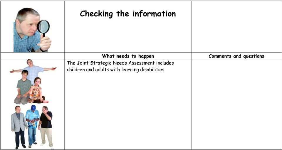 Assessment includes children and adults