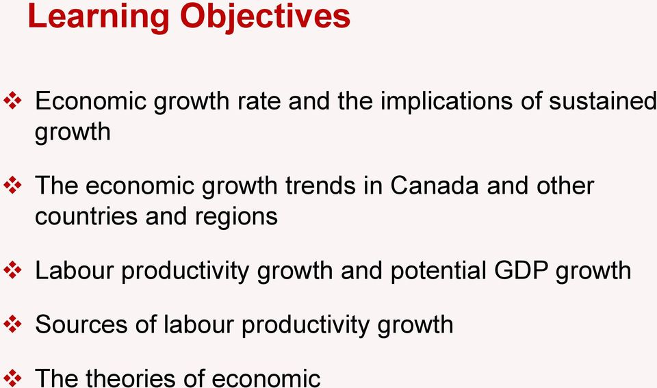 countries and regions Labour productivity growth and potential GDP