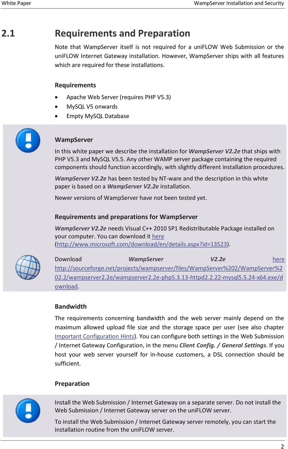 White Paper  // WampServer Installation and Security  Version Sep