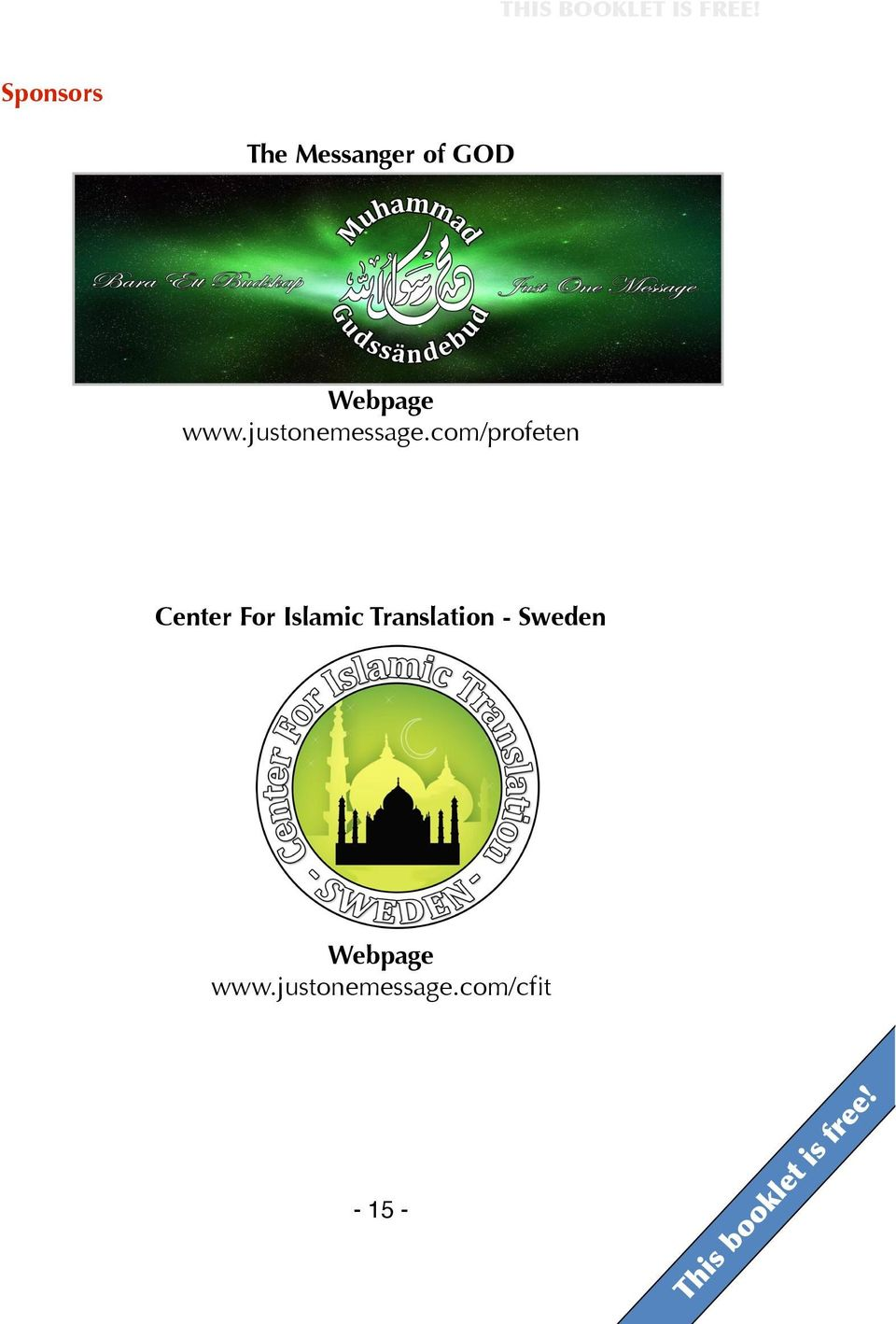 com/profeten Center For Islamic Translation -