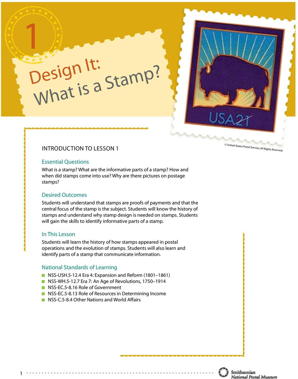 Design It What Is A Stamp Pdf