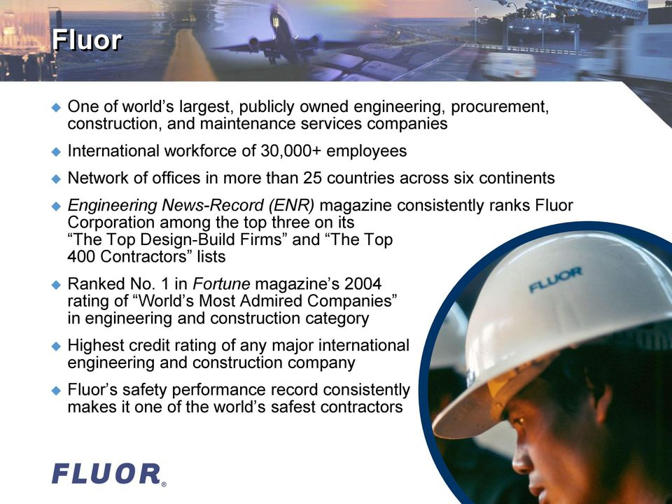 fluors global engineering serveice The company's engineering expertise ranges from traditional disciplines, such as architectural, civil, electrical,  fluor's global engineering serveice.