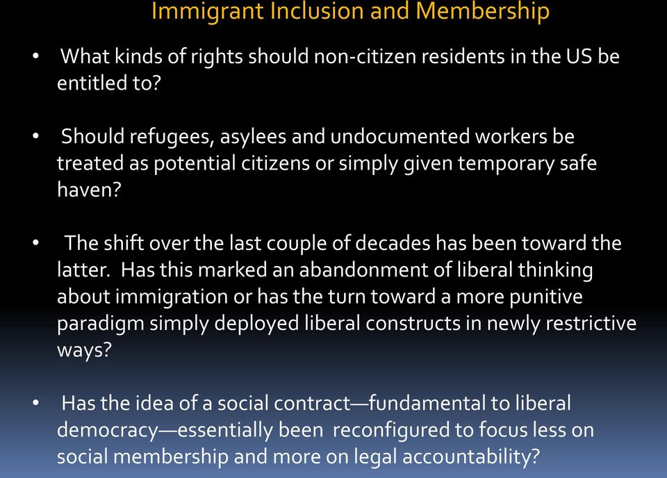 The immigration laws in italy should be more restrictive