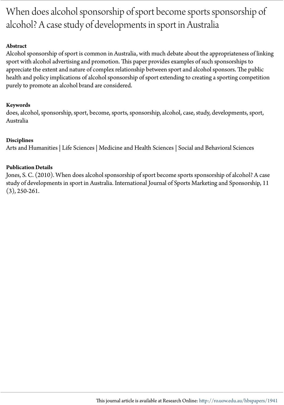 a paper on correlation between sports and studies This paper demonstrates the strong relationship that exists  the correlation between economic underdevelopment and  the correlation between economic.