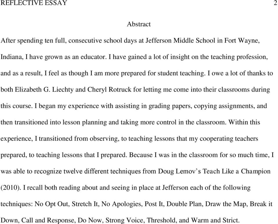 Essay On Class Room