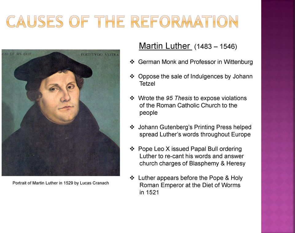 What happened when Luther was brought before the Diet of Worms?