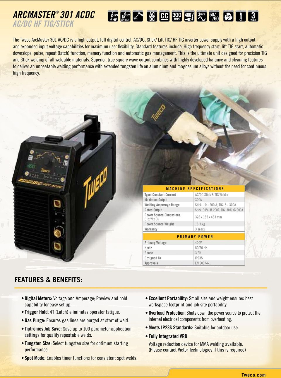 Arcmaster Industrial Portable Welding Power Sources Tweco