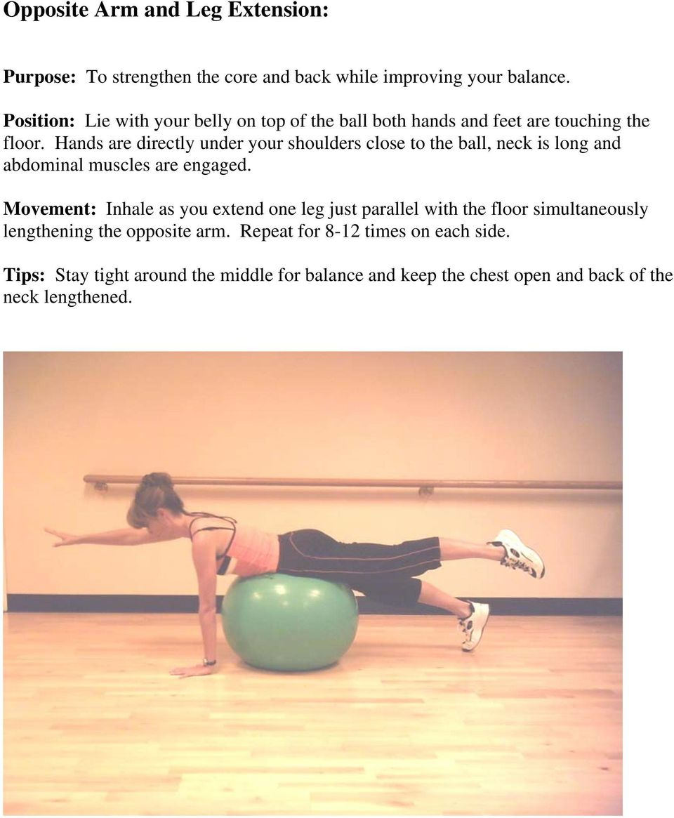 Hands are directly under your shoulders close to the ball, neck is long and abdominal muscles are engaged.