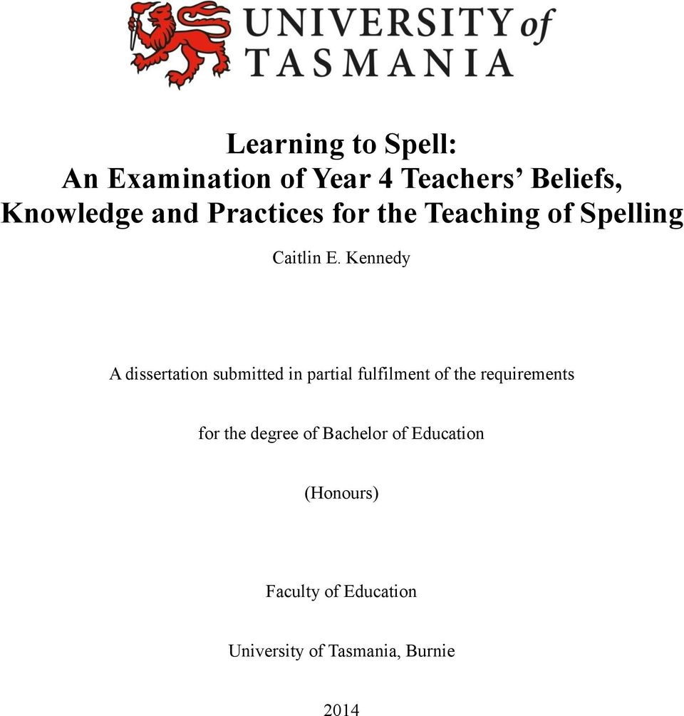 a dissertation submitted in partial. fulfilment of the requirements
