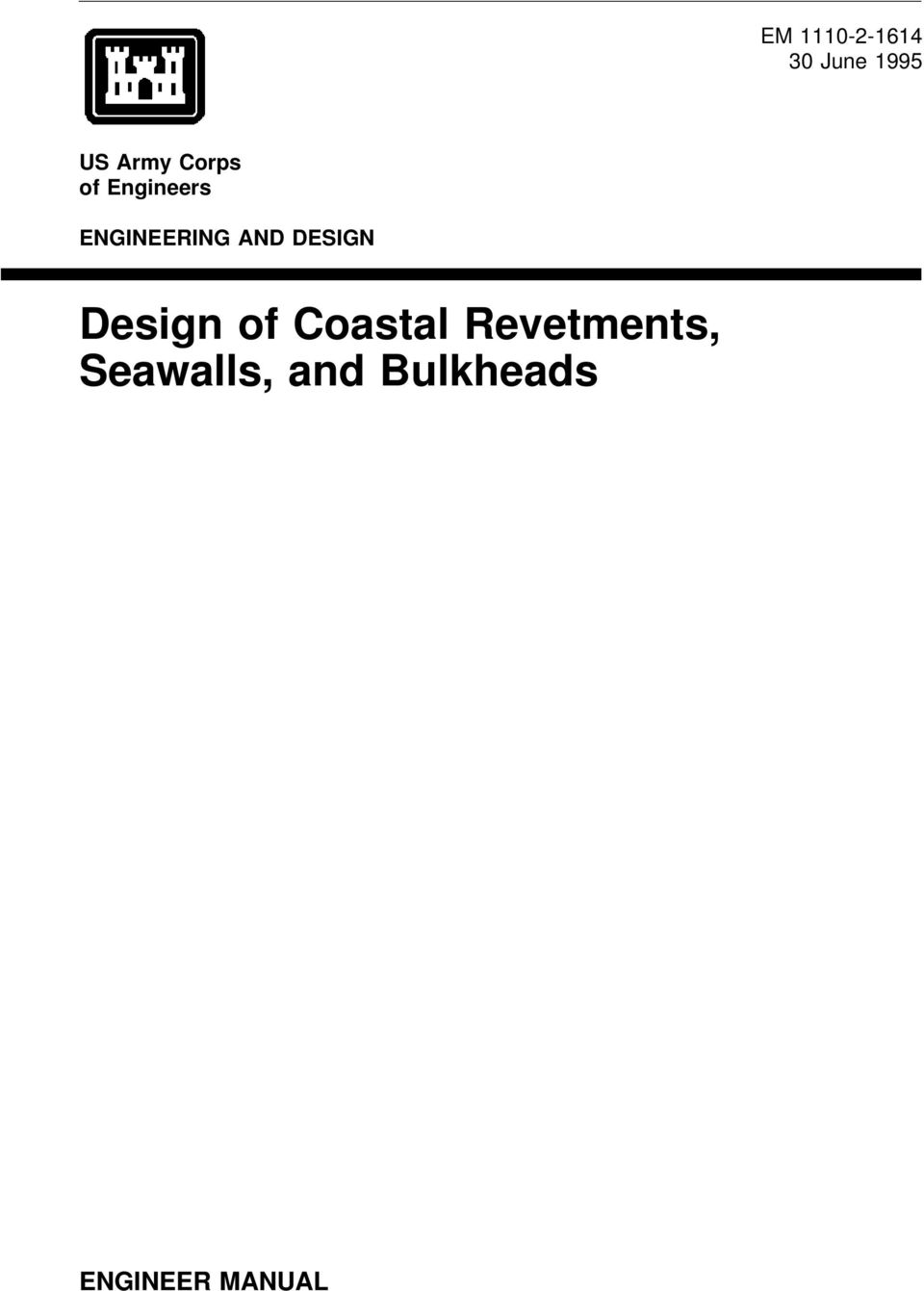 us army corps of engineers coastal engineering manual pdf