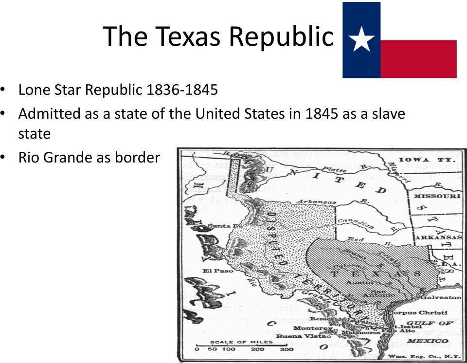 state of the United States in 1845