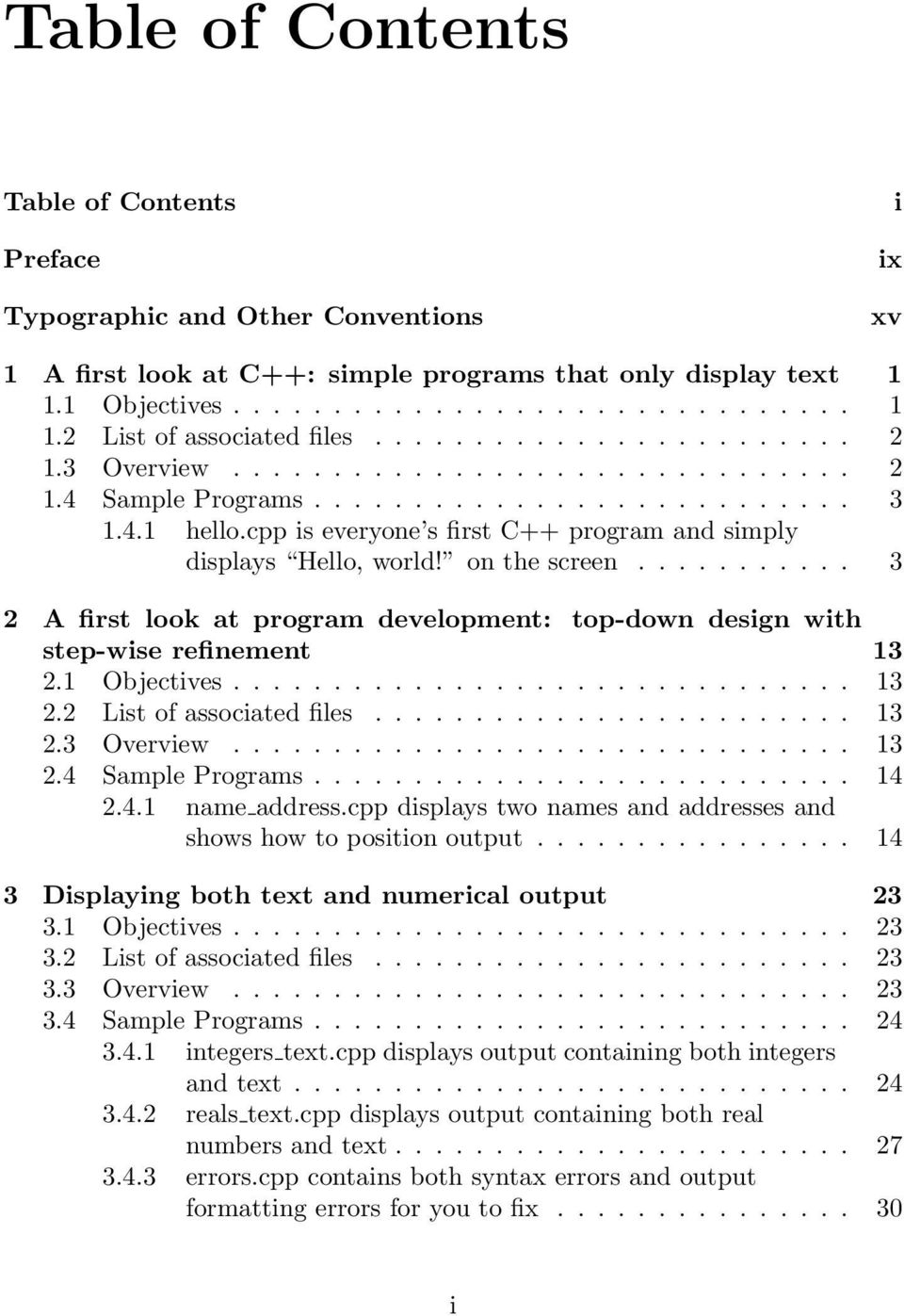 list of c++ programs with solutions pdf