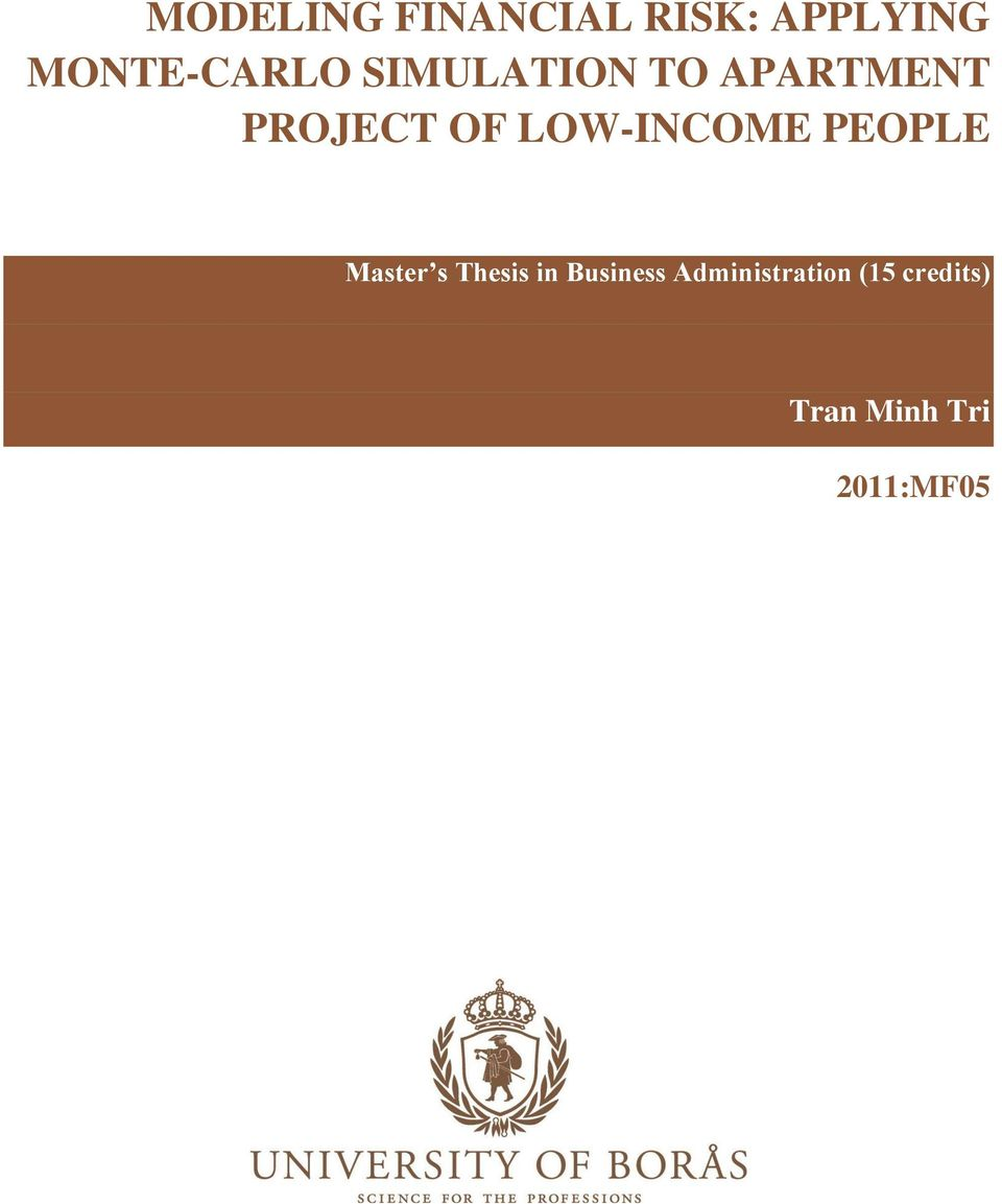 Master thesis business administration