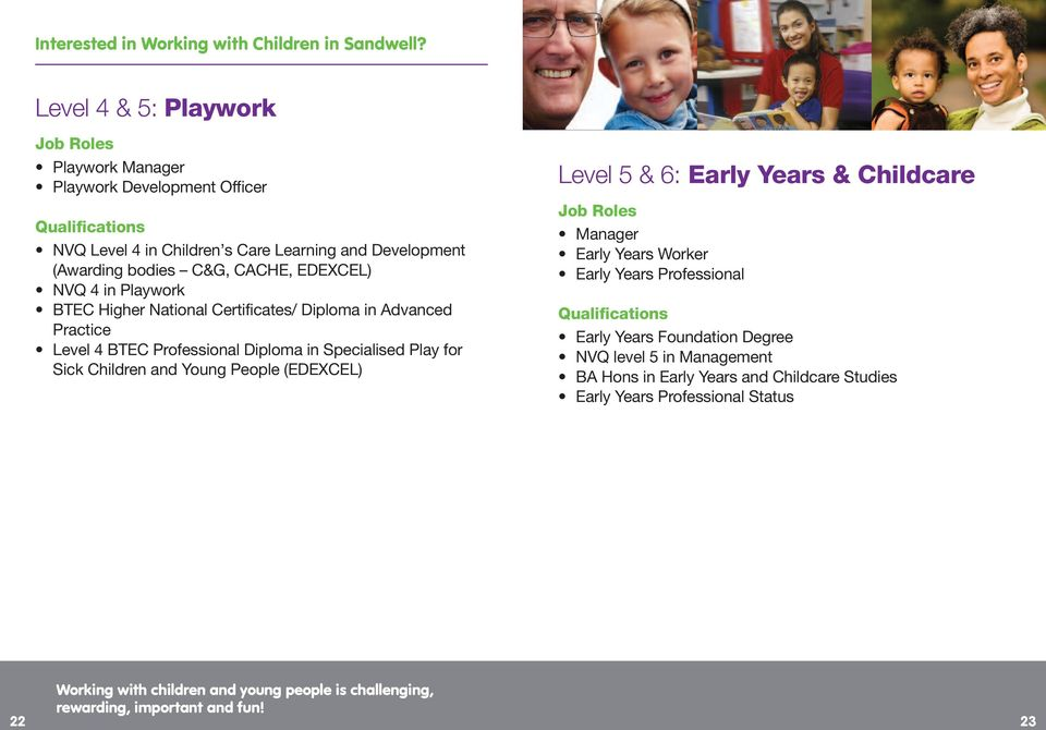 Specialised Play for Sick Children and Young People (EDEXCEL) Level 5 & 6: Early Years & Childcare Manager Early Years Worker Early Years