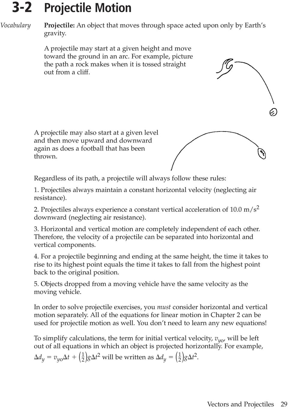 worksheet Vectors And Projectiles Worksheet 3 2 projectile motion pdf a may also start at given level and then move upward downward again